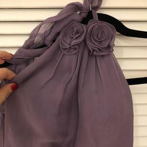 Violet chiffon formal bridesmaid dress